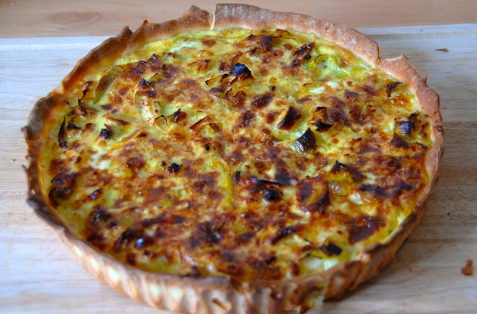 Leek and Goat Cheese Pie