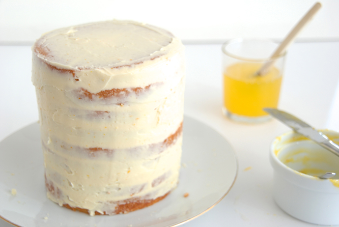Orange Buttercream Cake