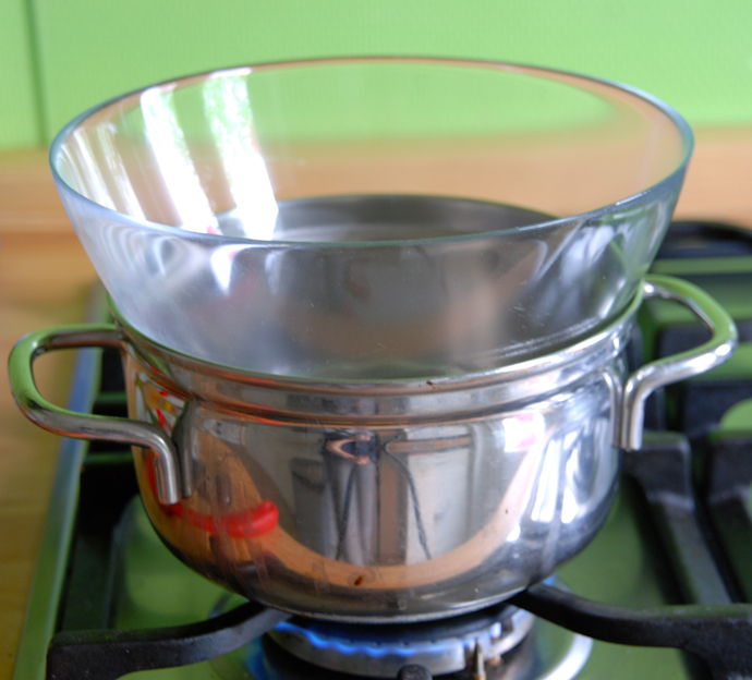 Faking a Double Boiler