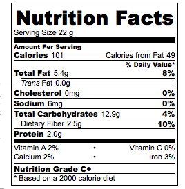 Garam Masala Popcorn Nutrition Facts