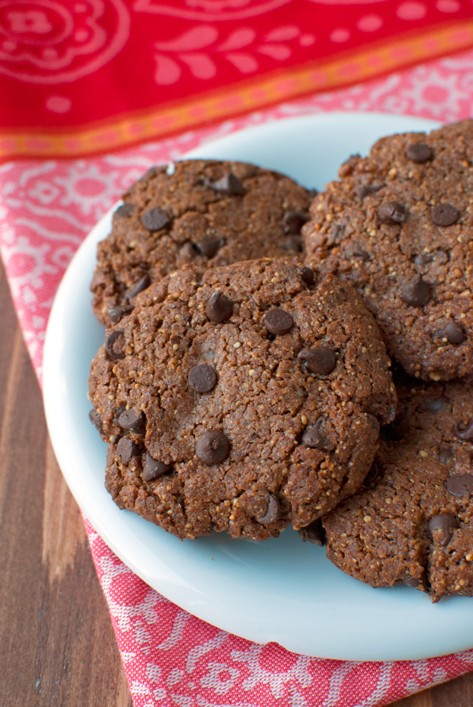 Flourless Chocolate Chip Cookies with Almond Butter