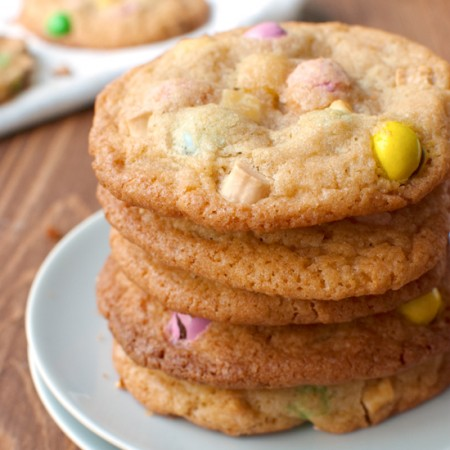 M&M Cookies with White Chocolate