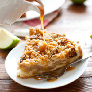 Apple Cookie Crumb Cake Featured