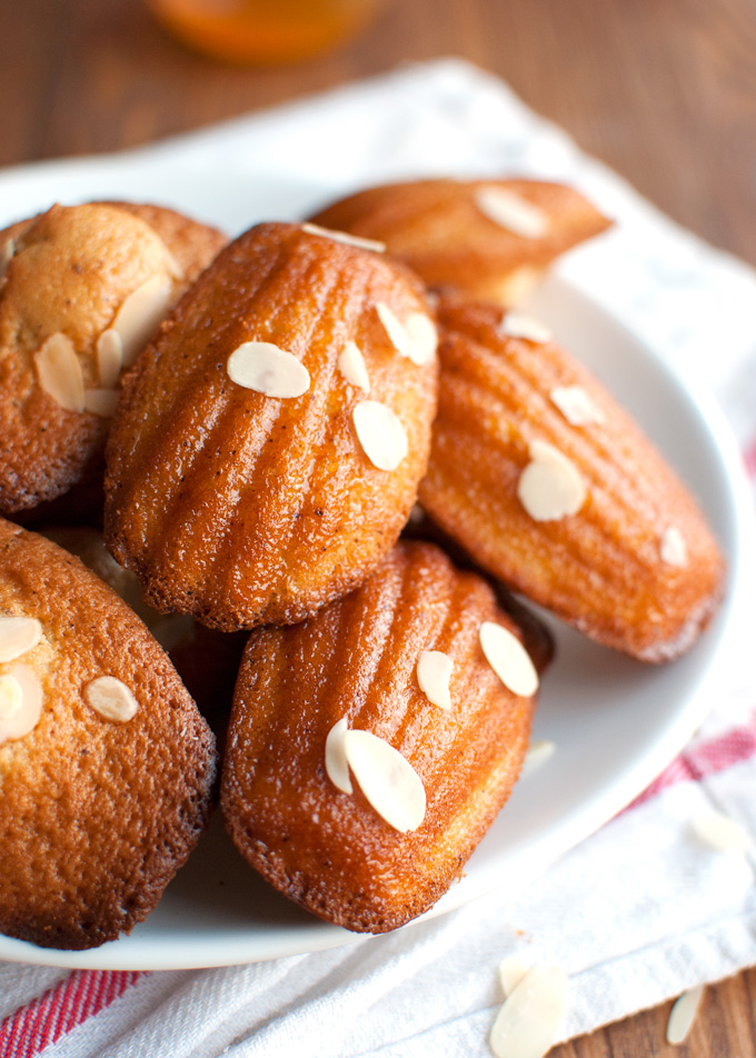 Madeleines with Almonds and Apricot Glaze