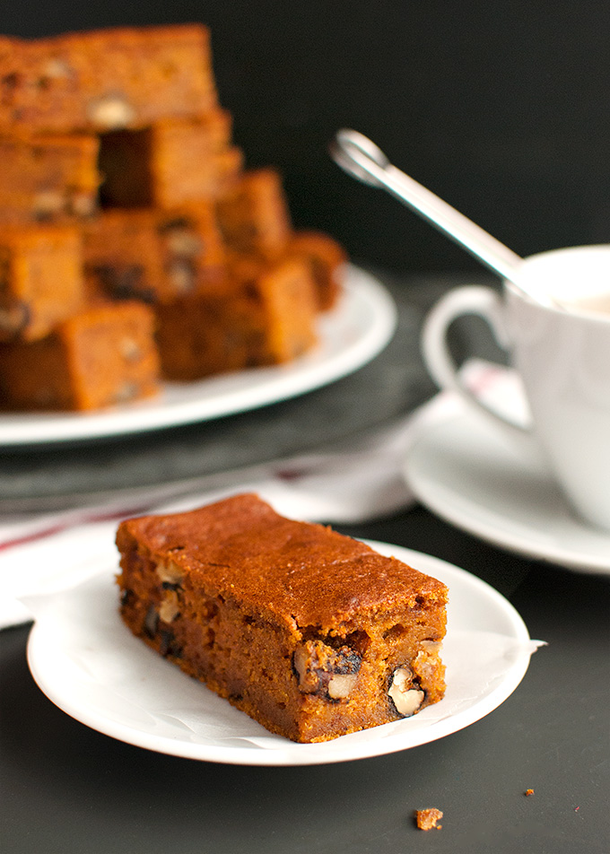 Spicy Pumpkin Bars with Walnuts Pumpkies Revisited