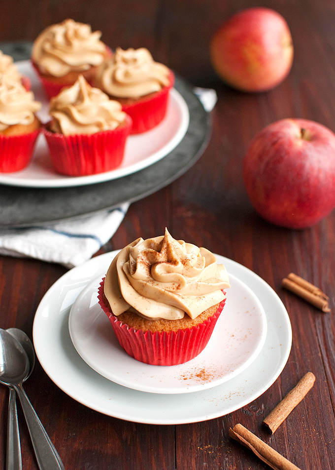 The Tough Cookie | Caramel Apple Cupcakes | thetoughcookie.com