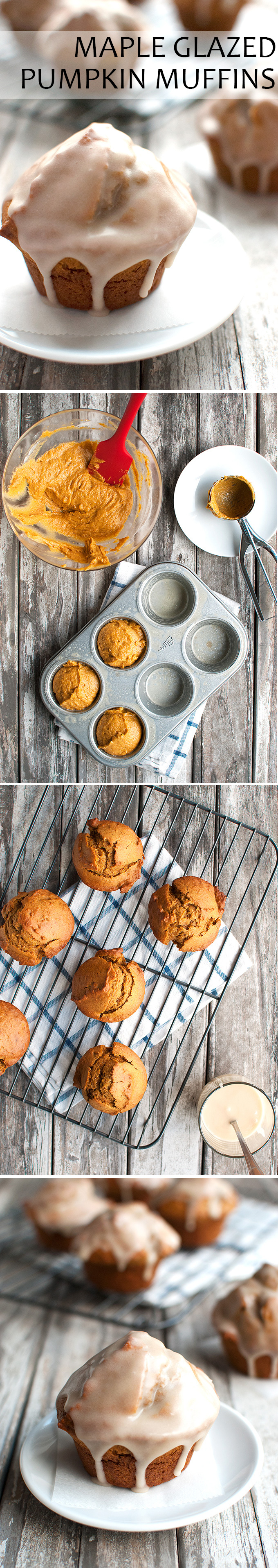 The Tough Cookie | Whole Wheat Pumpkin Muffins with Maple Glaze | thetoughcookie.com