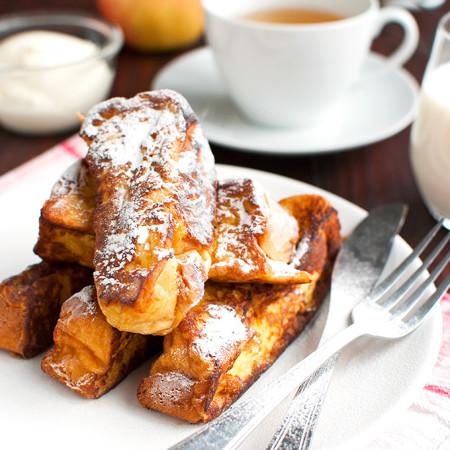 Brioche French Toast with Vanilla Crème Fraiche