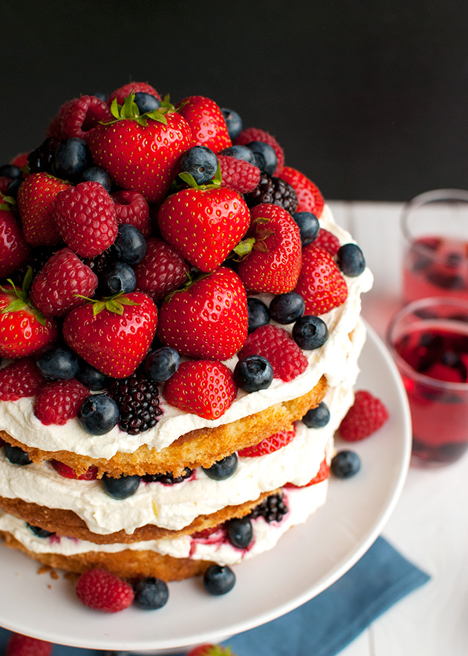 Fruit Cake with Stabilized Whipped Cream Frosting - the whipped cream ...