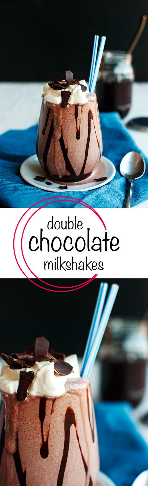 Double Chocolate Milkshakes - So good! | thetoughcookie.com