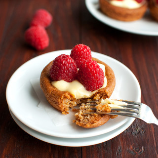 Raspberry Tartlets with Pastry Cream Filling