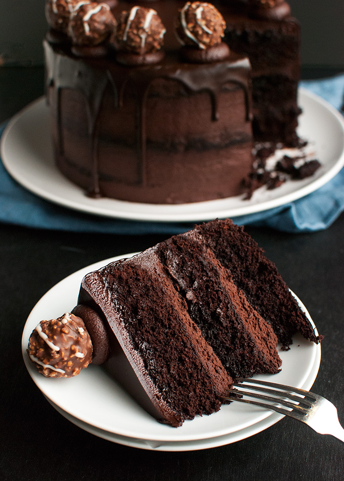 Chocolate And Butter Ganache For Chiffon Cake