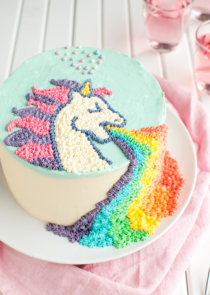 Puking Unicorn Cake