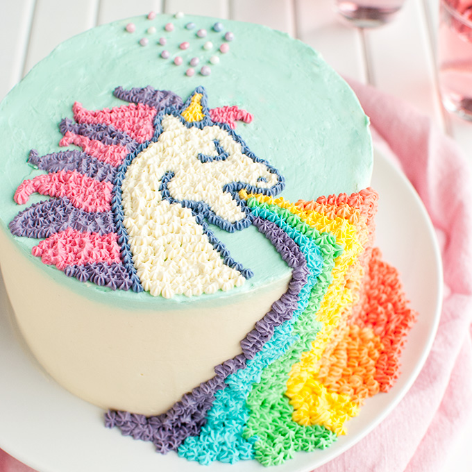 Square Rainbow Cake Recipe