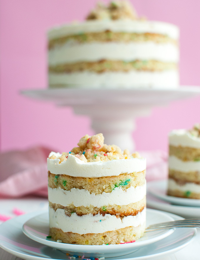 Momofuku Birthday Cake - I adapted the original recipe for Momofuku Milk Bar's famous Birthday Cake to make it a little bigger. Because bigger is better when it comes to cake! | thetoughcookie.com
