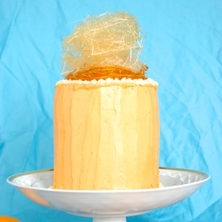 Orange Buttercream Cake, aka: Crowned King's Cake