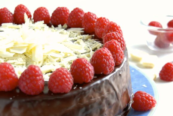 Raspberry-Chocolate Torte
