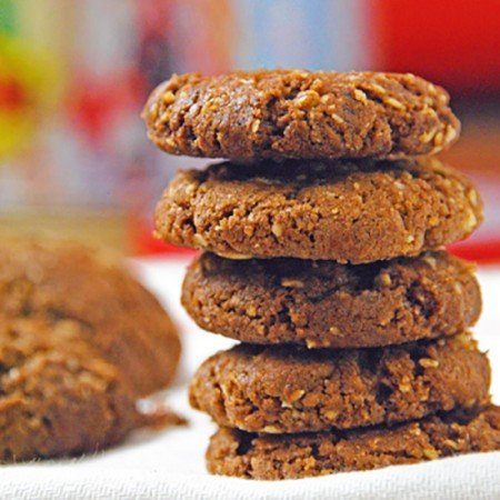 Brown Butter Cookies with Oats