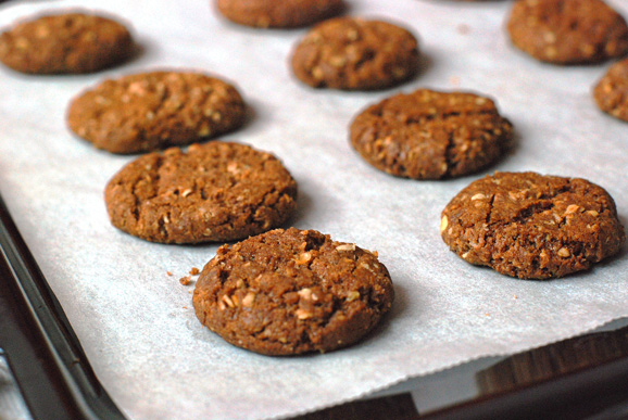 Brown-Sugar-Brown-Butter-Cookies-on-Sheet