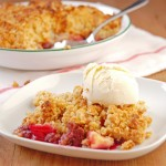Making Friends: Apple and Blueberry Crumble with Homemade Vanilla Ice Cream for Katrina of Warm Vanilla Sugar