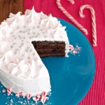 Chocolate Cake with Candy Cane Frosting Featured