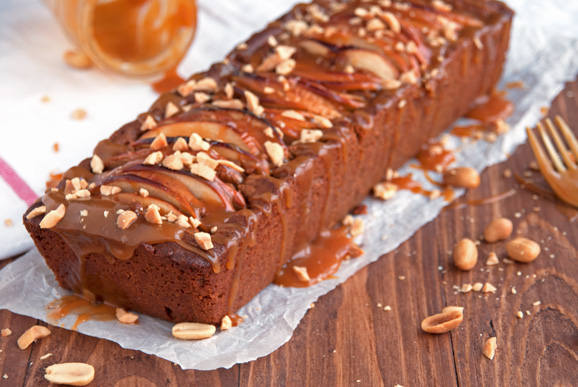 Caramel-Apple-Peanut-Butter-Loaf-Cake-3