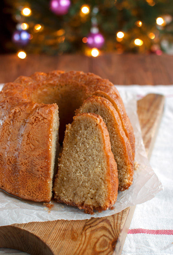 Christmasy Spiced Honey Syrup Bundt Cake with Mead