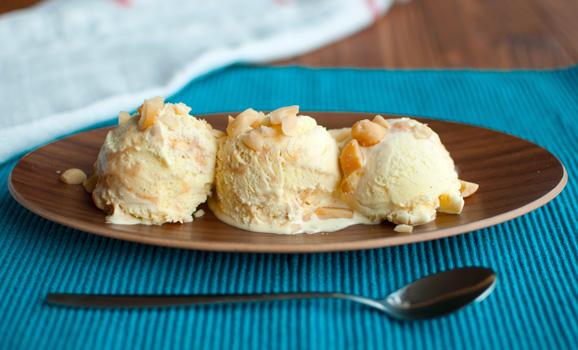 Dulce de Leche Macadamia Ice Cream