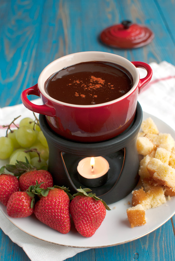 Chocolate Fondue with Cayenne Pepper
