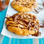 Easy Peanut Butter Cookies with a Dark Chocolate Drizzle