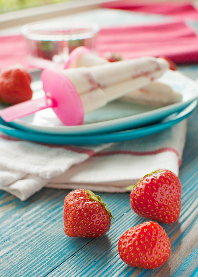 Strawberry Balsamic Popsicles