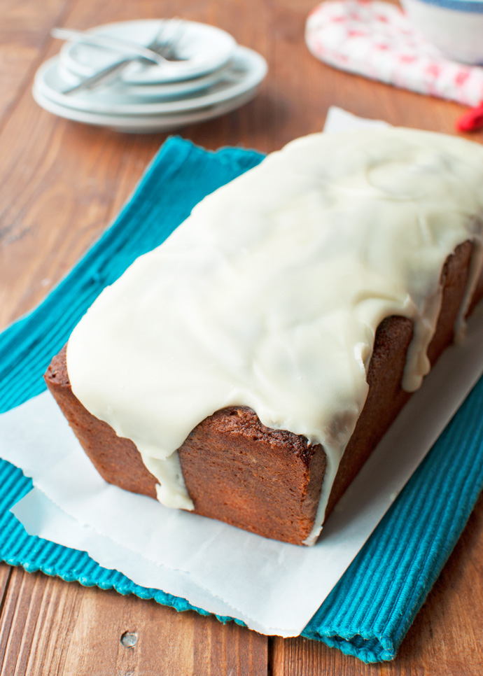 Double Brown Butter Cake with a Sweet Vanilla Glaze