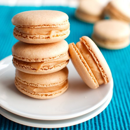 Salted Caramel Macarons With a Whipped Caramel Filling