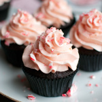 Chocolate Cupcakes with an Amazing Candy Cane Buttercream