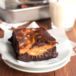 Salted Dulce de Leche Brownies Featured