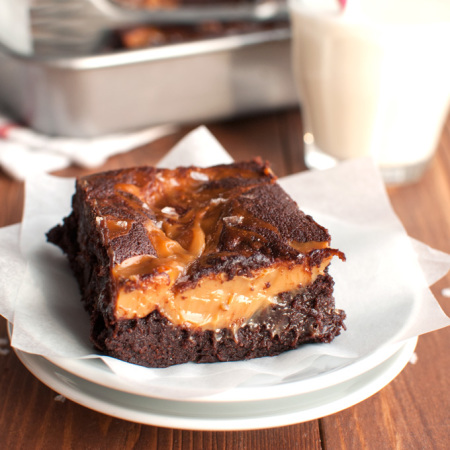 Salted Dulce de Leche Brownies