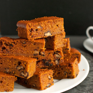 Spicy Pumpkin Bars with Walnuts Pumpkies Revisited Featured