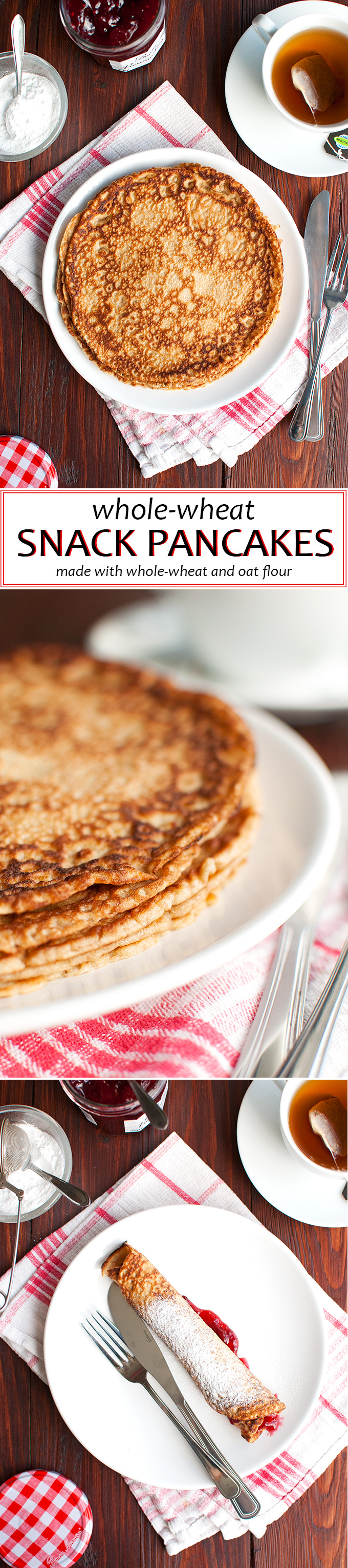 The Tough Cookie | Whole Wheat Pancakes with Oats and Cinnamon | thetoughcookie.com