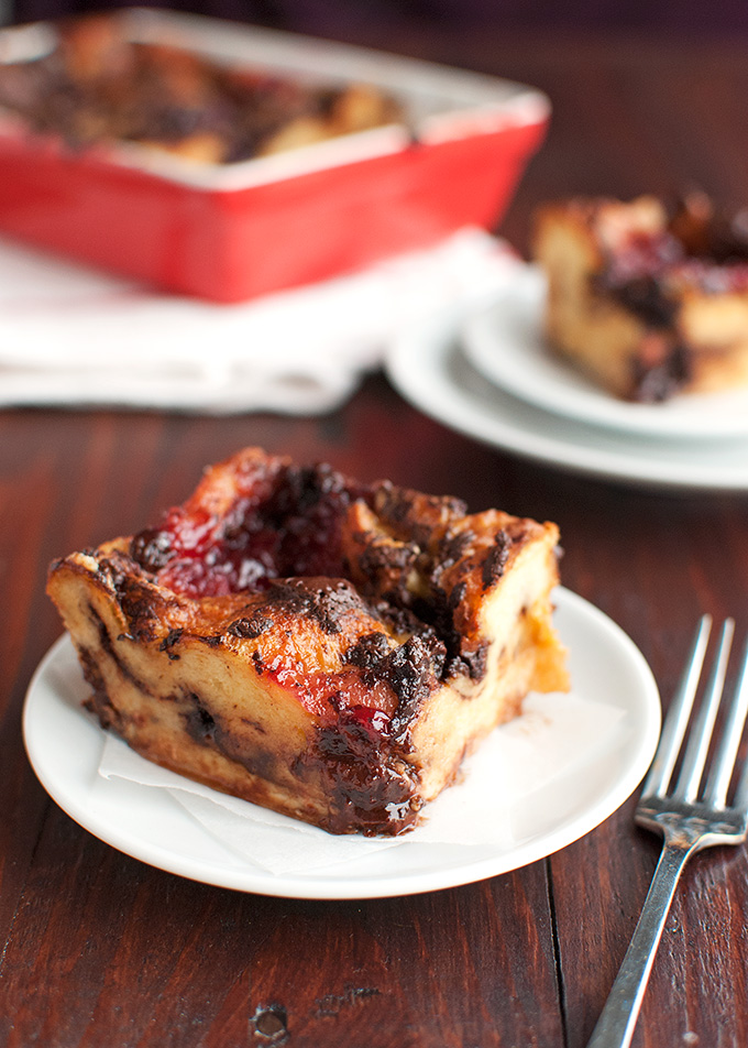 Brioche Bread Pudding with Dark Chocolate and Red Fruit ...
