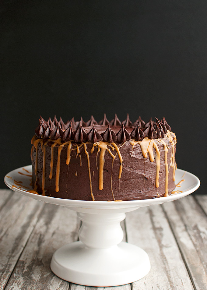Chocolate Fudge Peanut Butter Cake Recipe