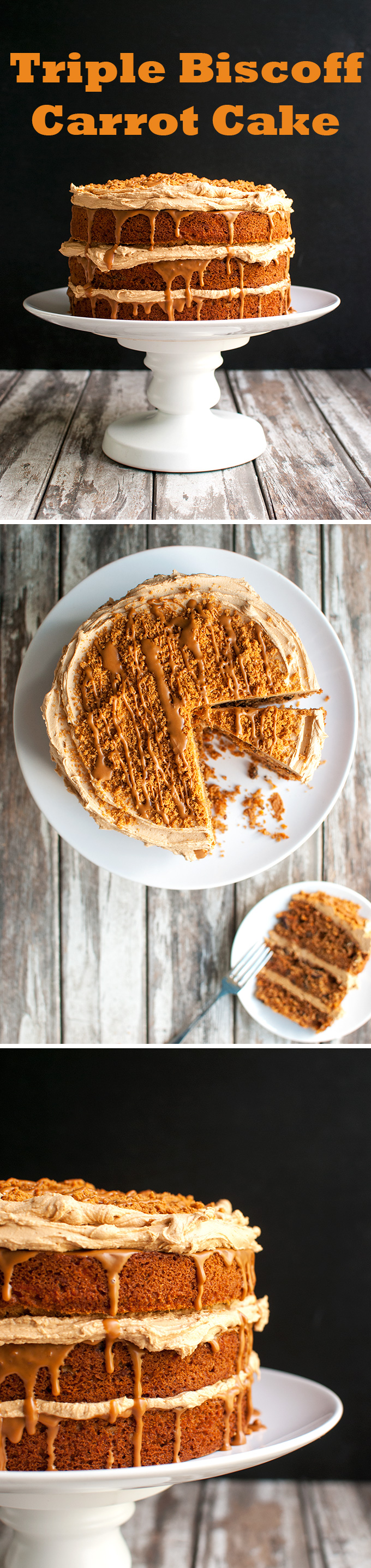 The Tough Cookie   Triple Biscoff Carrot Cake - Carrot Cake Studded with Pecans and Filled with Biscoff Frosting and Cookie Butter   thetoughcookie.com