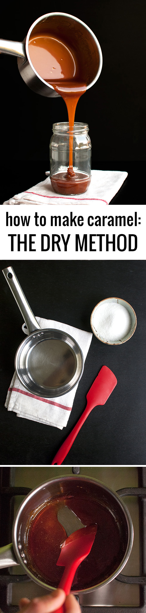 How to Make Caramel at Home: the Dry Method - Step-by-Step | thetoughcookie.com