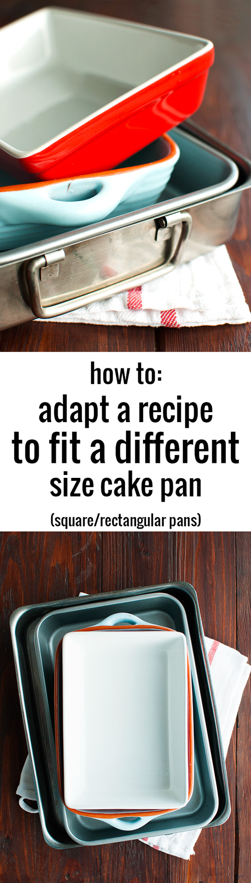 How to Adapt a Recipe to Fit a Different Size Cake Pan | thetoughcookie.com