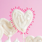 Freehand Meringue Heart Pops