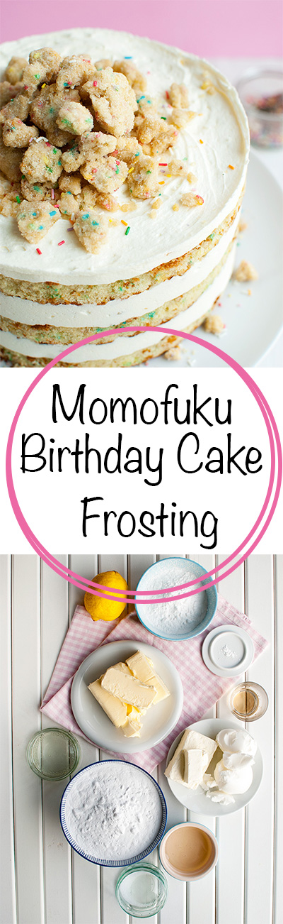 Momofuku Birthday Cake - Frosting - Learn to make the delicious Momofuku Birthday Cake frosting. Recipe makes enough for an 18-cm/7-inch cake! | thetoughcookie.com