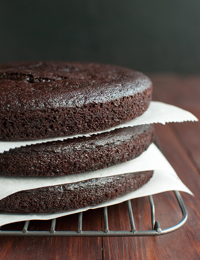 Recipe for 3 Chocolate Espresso Cake Layers - pakced with flavor! | thetoughcookie.com