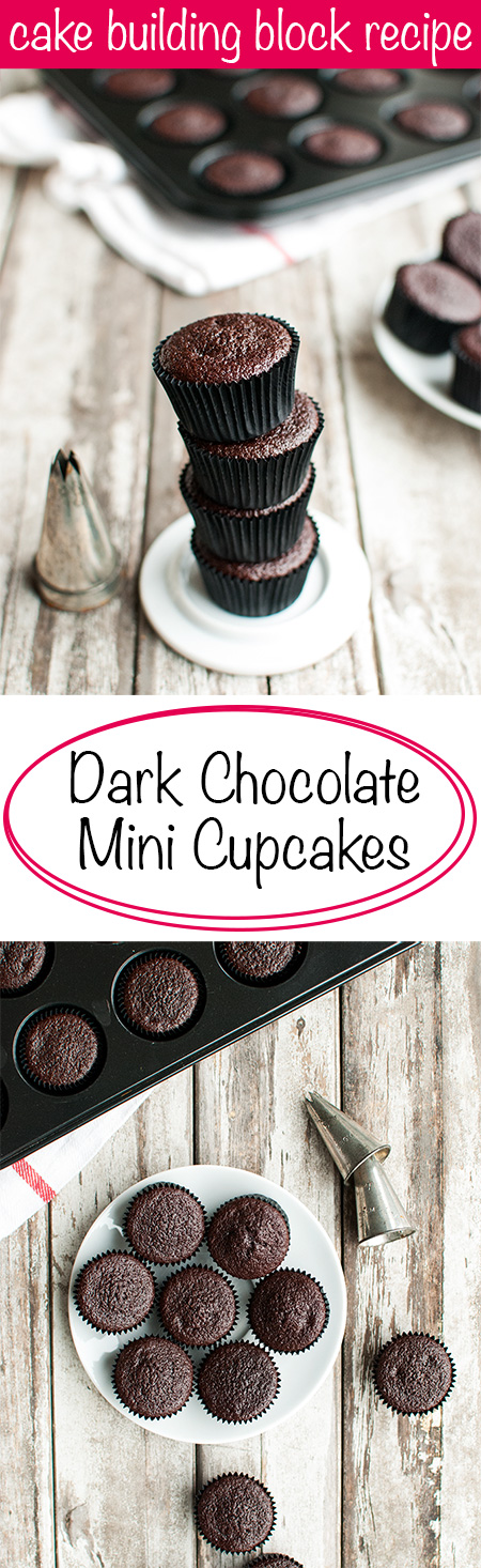 Mini Chocolate Cupcakes - This is a GREAT building block recipe. Just add your favorite frosting! | thetoughcookie.com